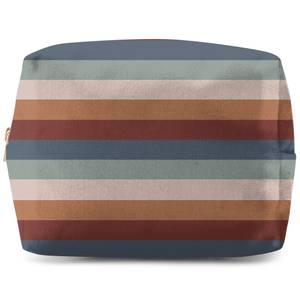 Winter Retro Stripes Wash Bag