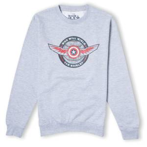 Falcon and Winter Soldier Who Will Wield The Shield Unisex Sweatshirt - Grey