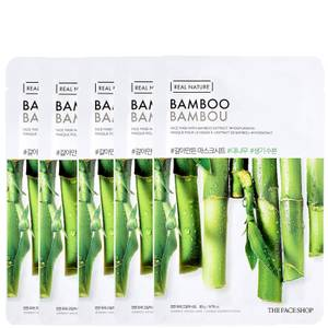 THE FACE SHOP Real Nature Sheet Mask - Bamboo (Pack of 5)