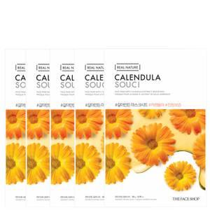 THE FACE SHOP Real Nature Sheet Mask - Calendula (Pack of 5)