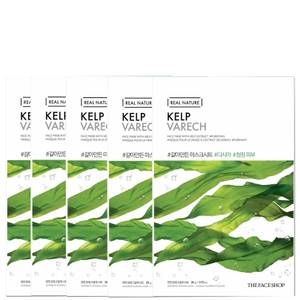 THE FACE SHOP Real Nature Sheet Mask - Kelp (Pack of 5)