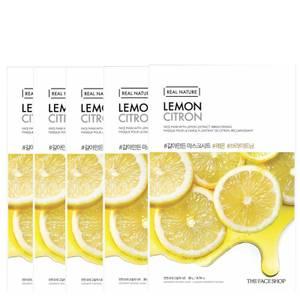 THE FACE SHOP Real Nature Sheet Mask - Lemon (Pack of 5)