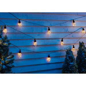 10 Cone Copper Wire LED Chain Outdoor Christmas Lights - Warm White