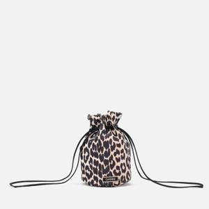 Ganni Women's Recycled Tech Bag - Leopard