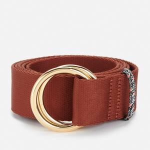 Ganni Women's Webbing Belt - Madder Brown