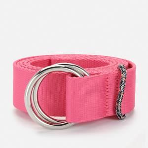 Ganni Women's Webbing Belt - Shocking Pink