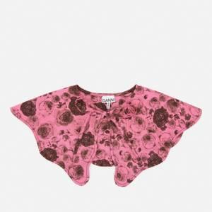 Ganni Women's Floral Cotton Collar - Shocking Pink