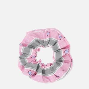 Ganni Women's Floral Cotton Scrunchie - Pink Nectar