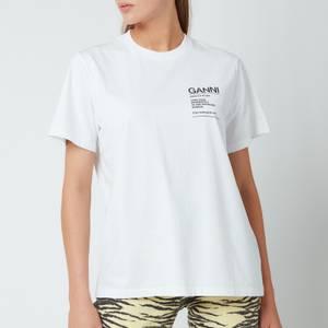 Ganni Women's Basic Cotton Jersey T-Shirt - White