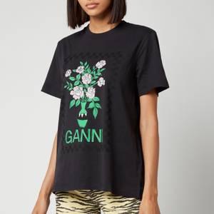Ganni Women's Basic Cotton Jersey T-Shirt - Phantom