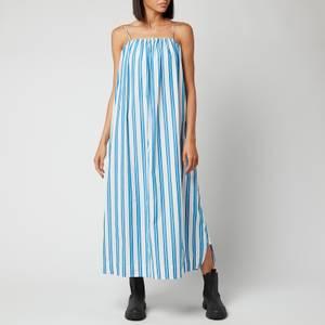 Ganni Women's Stripe Cotton Dress - Daphne