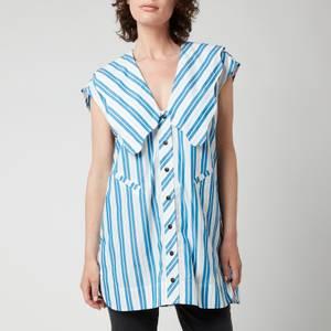 Ganni Women's Oversized Sleeveless Shirt - Daphne