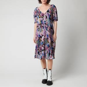 Ganni Women's Midi Dress - Multi