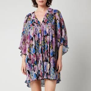 Ganni Women's Oversized Mini Dress - Multi