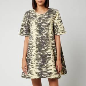 Ganni Women's Wide Mini Dress - Pale Banana