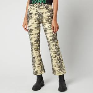 Ganni Women's Print Denim Jeans - Pale Banana