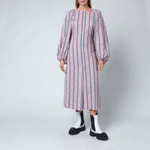 Ganni Women's Maxi Dress - Pink Nectar