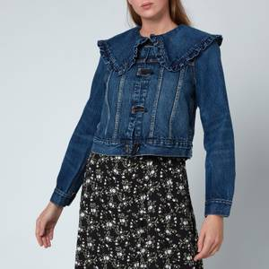 Ganni Women's Heavy Denim Jacket - Dark Indigo