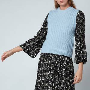 Ganni Women's Wool Mix Jumper - Airy Blue