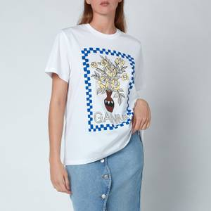 Ganni Women's Basic Cotton Jersey T-Shirt - Bright White