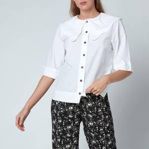 Ganni Women's Cotton Poplin Shirt - Bright White