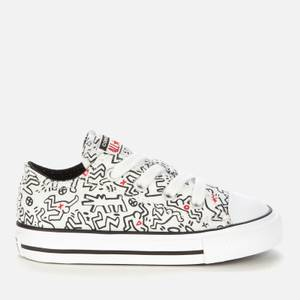 Converse Toddlers' Keith Haring Chuck Taylor All Star Ox Trainers - White/Black/Red