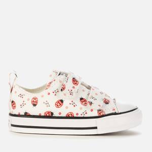 Converse Toddlers' Chuck Taylor All Star Ladybird Velcro Ox Trainers - White/Red/Black