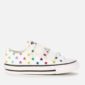 Converse Toddlers' Chuck Taylor All Star Velcro Archive Foil Star Print Ox Trainers - Foil Star