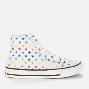 Converse Kids' Chuck Taylor All Star Archive Foil Star Print Hi-Top Trainers - Foil Star