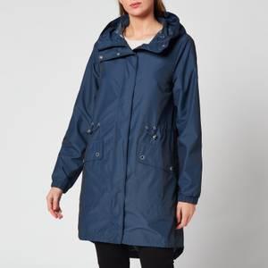 Barbour International Women's Suzuka Showerproof Coat - Metallic Blue
