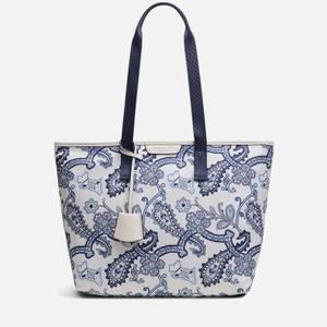 Radley Women's Maple Cross - Radley Paisley Medium Ziptop Tote Bag - Chalk