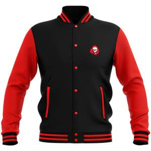 Skullsplat Varsity Jacket - Red/Black