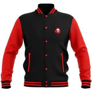 Grimmfest Logo Varsity Jacket - Red/Black