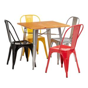 Billy Bistro Dining Set 4 Red Chairs