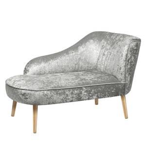 Chaise Longue Crushed Velvet - Grey
