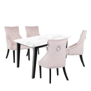 Aubrey 4 Seater Dining Set - Annabelle Chairs - Pink