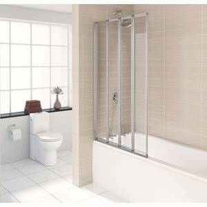 Aqualux 4 Fold Bathscreen - 840 x 1500 x 4mm