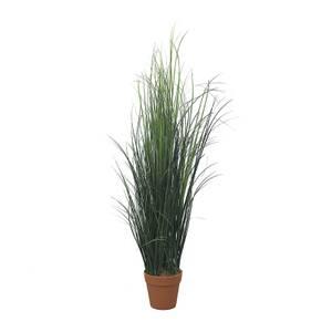 Artificial Grass In Terracotta Pot