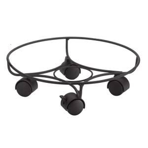 33cm Elegance Pot Caddy - Black