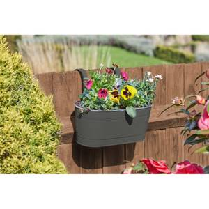 12 Fence and Balcony Hanging Planter - Grey