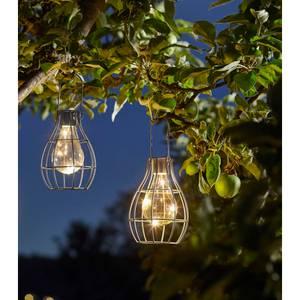Solar Company Lightbulb Cage Lantern - Green & Grey