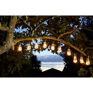 Solar Lightbulb String Lights Set of 10