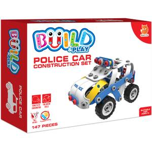 Build & Play Kids Police Car Construction Set Toy