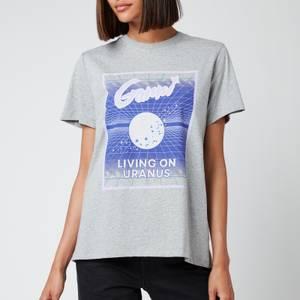 Ganni Women's Living On Uranus T-Shirt - Paloma Melange
