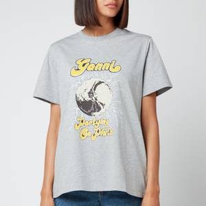 Ganni Women's Partying On Pluto T-Shirt - Paloma Melange