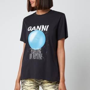Ganni Women's Floating On Neptune T-Shirt - Phantom
