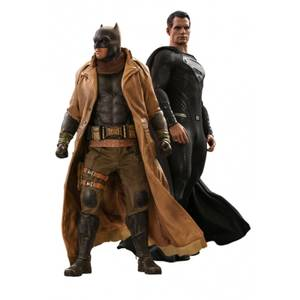 Set de 2 figuras de acción de Batman y Superman a escala 1/6 - Hot Toys DC Comics Liga de la Justicia Knightmare