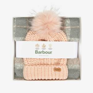 Barbour Women's Barbour Saltburn Beanie/Boucle Scarf Gift Set - Pink/Grey