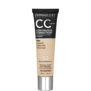 Dermablend Continuous Correction Tone-Evening SPF50+ CC Cream 1 fl. oz (Various Shades)