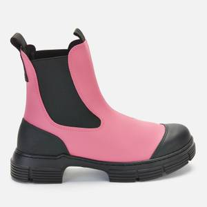 Ganni Women's Recycled Rubber Chelsea Boots - Shocking Pink